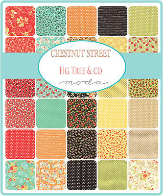 Patchwork/quilting Fabric Moda Chestnut Street Charm Squares/packs