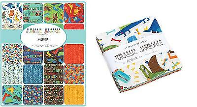 Patchwork/quilting Fabric Moda -Jurassic Jamboree - Charm Squares/packs