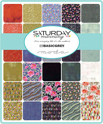 Patchwork/quilting Fabric Moda -Saturday Morning - Charm Squares/packs