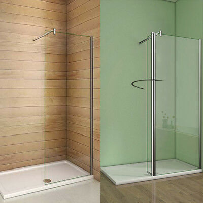 Wet Room Tall Shower Screen Walk In Panel Enclosure Cubicle 8mm NANO Clean Glass