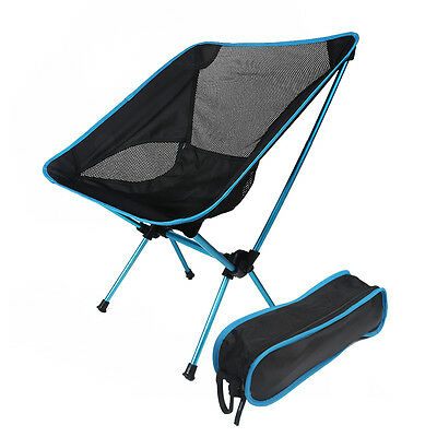 Ultralight Portable Folding Camping Moon Chair Backpacking Beach Chair+Carry Bag