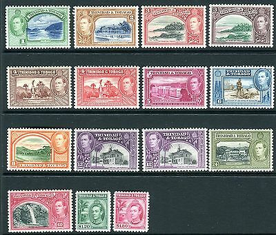 TRINIDAD & TOBAGO-1938-44  A lightly mounted mint set to $4.80 Sg 246-256