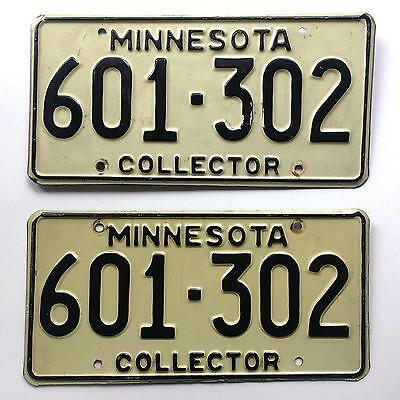 Minnesota 1995 Collector Pair Vintage License Plate Garage Old Car Auto Tag