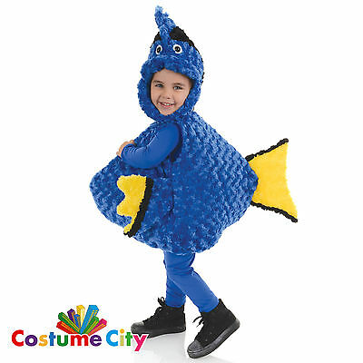 Childs Toddlers Blue Tang Fish Dory Halloween Fancy Dress Party Costume