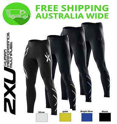 MENS 2XU COMPRESSION PANTS [ long sports gym running AFL skins tights clothing]