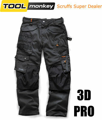 Scruffs 3D PRO Work Trousers - Graphite/ Dark Lead - Heavy Duty Cordura Fabric