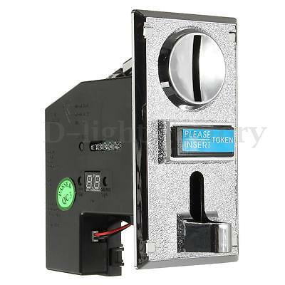 Electronic Roll Down Coin Acceptor Mech Arcade Game Multicade Ticket Redemption