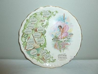 Dated 1912 Souvenir Calendar Plate from Minnich's Sanitary Automatic Bakery-B