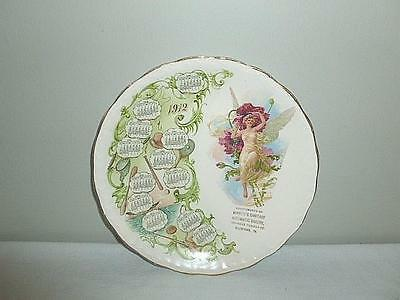 1912 Souvenir Calendar Plate from Minnich's Sanitary Automatic Bakery Version #2
