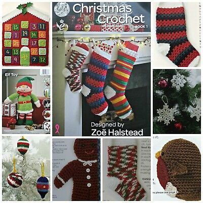 CROCHET PATTERN BOOK Christmas 1 Advent Calendar Elf Robin Baubles King Cole