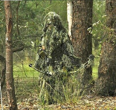 Ghillie Suit 5pcs Camouflage Hunting /Archery Sniper /Dress Party/ Clothing