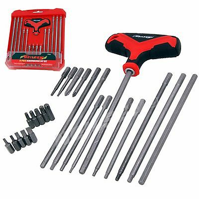 Neilsen Screwdriver Bit Set T Handle Hex Torx Star Slotted Interchangeable 20A