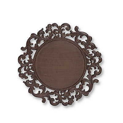 """The GG Collection 14"""" Acanthus Ornate Metal Charger Plate"""