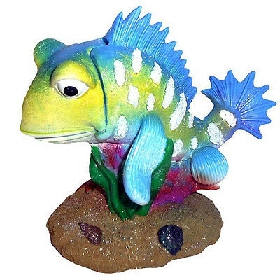 Air Operated Action Colourful Spikey Fish Aquarium Fish Tank Ornament MS202