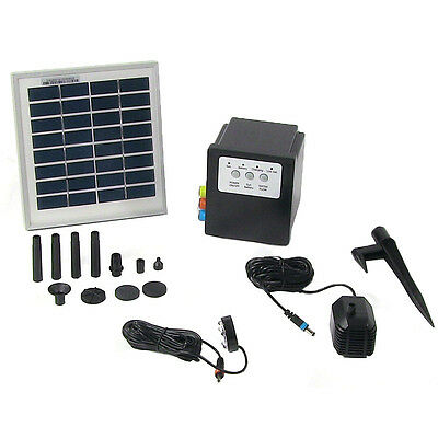 NEW Solar Pump and Panel Kit w/Battery Pack & LED Light, 79 GPH, 47 Inch Lift