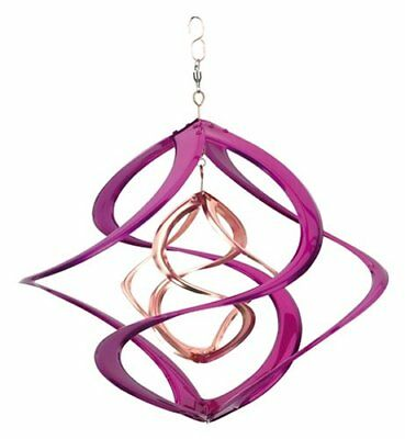 """Colored 14"""" Double Wind Spinner, Purple"""