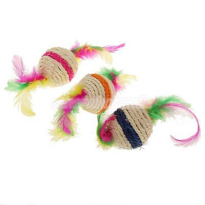 Kitten Funny Cat Sisal Rope Weave Boule Teaser Lecture Chewing Scratch Fun