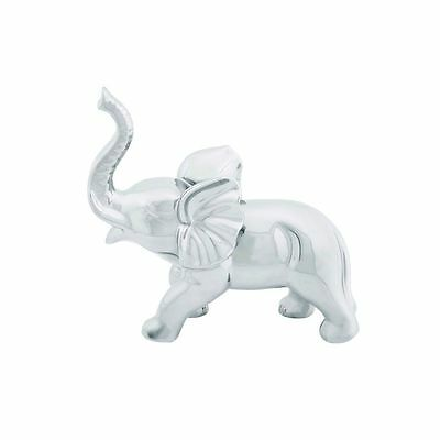Silver Porcelain 21-inches Wide x 12-inches High Elephant Figurine