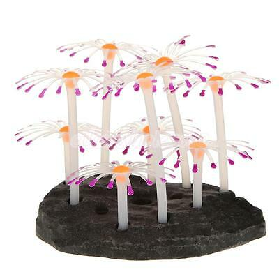 Feather Coral artificielle Fish Tank Aquarium Ornement eau Décor pourpre