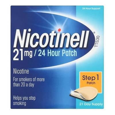 NEW Nicotinell Nicotine Patch TTS30 21mg- Step 1 - 21 Days Supply