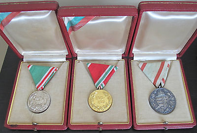 Very rare set of 3 Medals from WWI of a Bulgarian Royal General