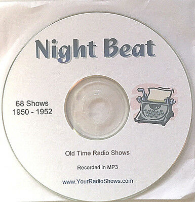 Night Beat 1 CD 68 Shows-Old Time Radio-Detective-ONLY $4.99 FREE S&H