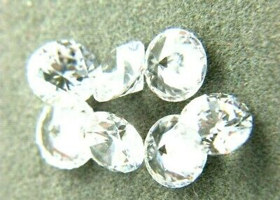 CUBIC ZIRCONIA loose AAA White CZ lot 2 to 10mm Round CZ Stones *Wholesale*  USA