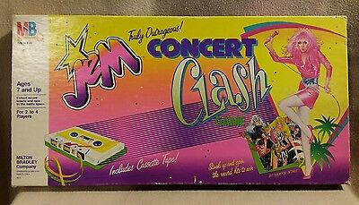 JEM Truly Outrageous Concert Clash Game by Milton Bradley 1986 Rare