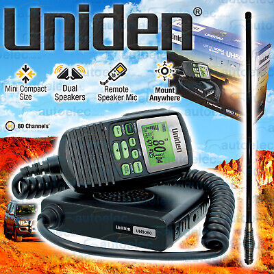 Uniden Uh5060 Uhf Cb Radio 5 Watt 80Ch + Fiberglass 6Db Bull Bar Antenna New