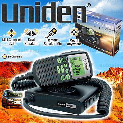 Uniden 80 Channel Uh5060 Uhf Cb Radio 5 Watt Mobile Two Way New Remote Display
