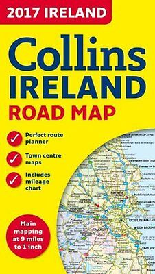 2017 Collins Map of Ireland by Collins Maps 9780008158606