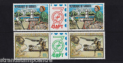 Djibouti - 1979 Philexafrique (2nd Issue) - U/M - SG 763-4 GUTTER PAIRS