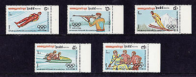 Kampuchea - 1983 Winter Olympics (1st Issue) - U/M - SG 475-9