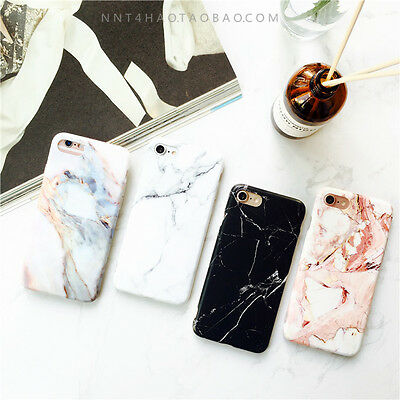 For iPhone X XS MAX 7 8 PlusFashion Marble Effect Granite Soft Bumper Case Cover
