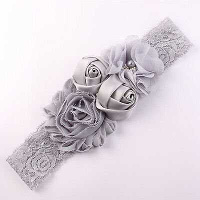 High Elastic Lace Baby Headband Mix 4 Flower Princess Girls Hair Bow Hair Band