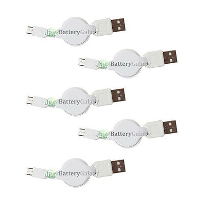 5 Micro USB Retract Data Cable for Kyocera DuraForce XD DuraXE Hydro Reach View
