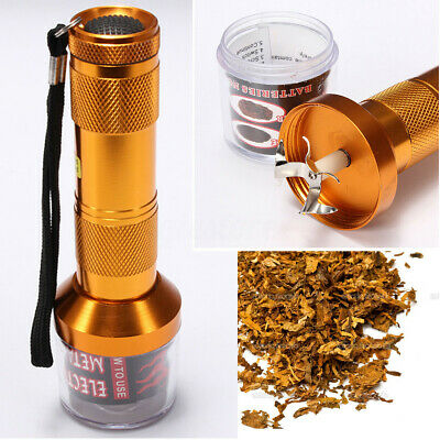 Electric Grinder Herb Spice Crusher Muller Metal Aluminum Red US