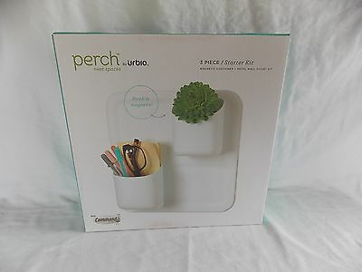 Perch By Urbio 3 Piece Starter Kit Magnetic Container Metal Wall Mount