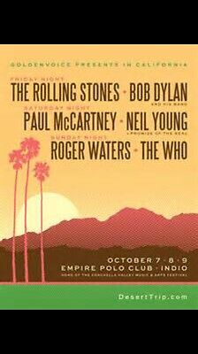 Desert Trip 3 day Pass- Weekend 1  (Oct 7-9) Grandstand Seat Sect N18