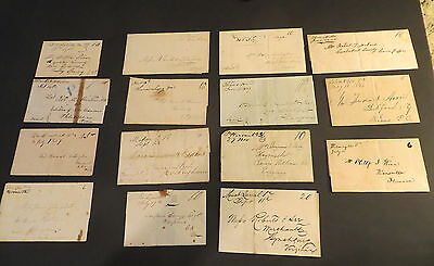 *15* 1830-50s Virginia Small-Town MANUSCRIPT Cancels on Folded Letters, Wrappers