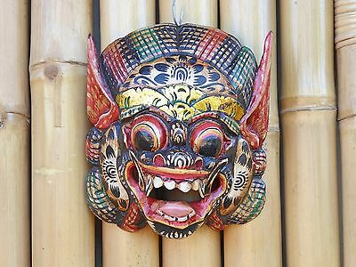 Hand Carved & Painted Wooden Balinese Barong Mask 20cm.....