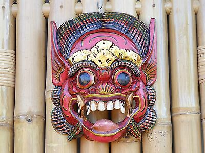 Hand Carved & Painted Wooden Balinese Barong Mask 24cm......
