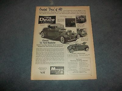 """1932 Monogram Big Deuce Ford Model Ad """"Greatest Deuce of All!"""" from 1963"""