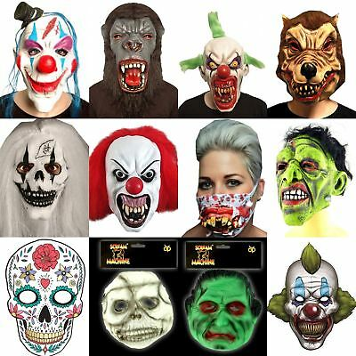 Halloween Scary Zombie Latex Face Mask Horror Fancy Dress Decoration Masks Evil