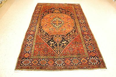 c1930s ANTIQUE HIGHLY DETAILED PRSIAN BEJAR RUG 4.9x8.4 CLASSIC VILLAGE WOVEN