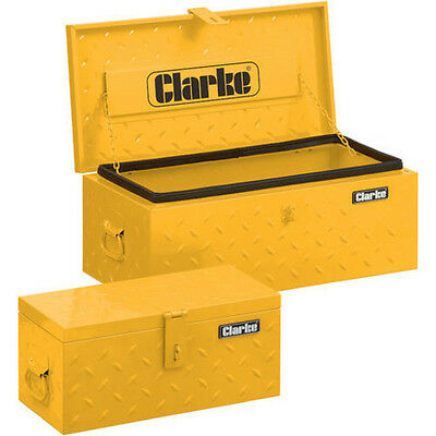 Clarke 2 Piece Truck Toolbox Set Diamond Plate Steel Water Resistant Seal CC6748