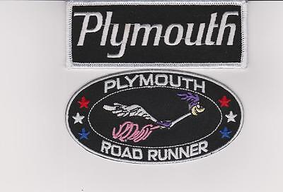 Plymouth Roadrunner Sew/iron On Patch Emblem Badge Embroidered Car Mopar Magnum