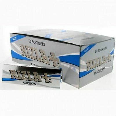 Box of 50 Micron Rizla Rolling papers Standard Size  *Original Full Box*