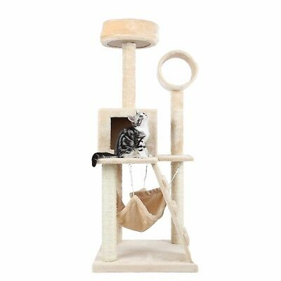 "HIDING Cat Tree™ 49"" Play House Condo Furniture Bed Tower Scratch Post Pole"