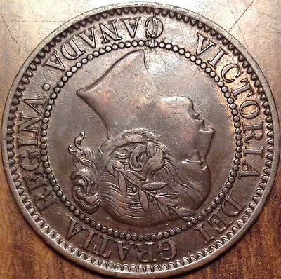 1859 Canada Large Cent Superb Higher Grade Example Have A Look !!!